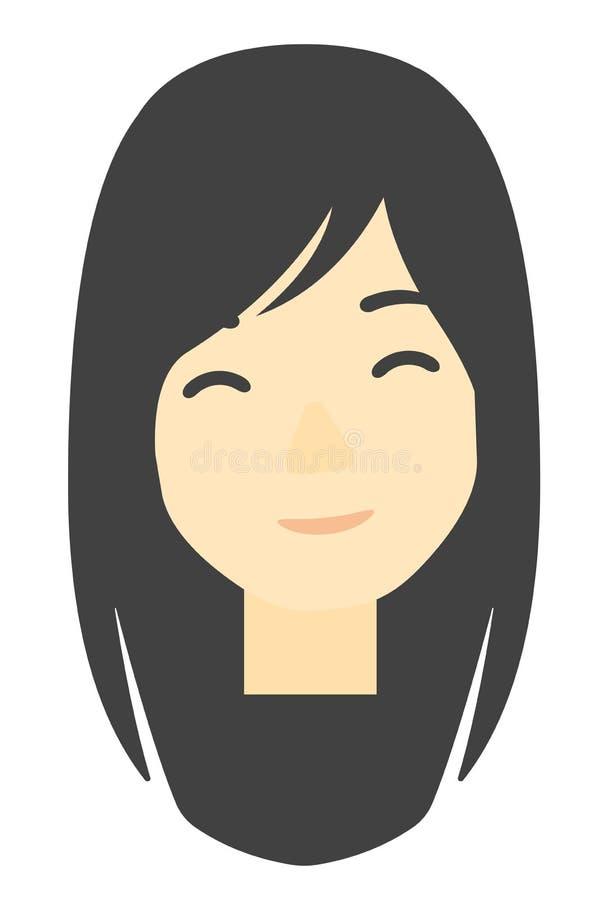 szczęśliwa kobieta uśmiechnięta ilustracji