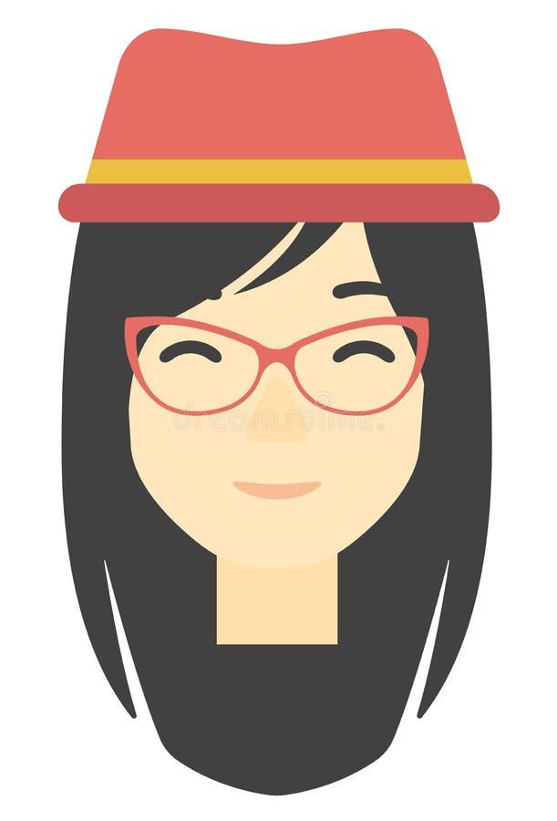 szczęśliwa kobieta uśmiechnięta ilustracja wektor