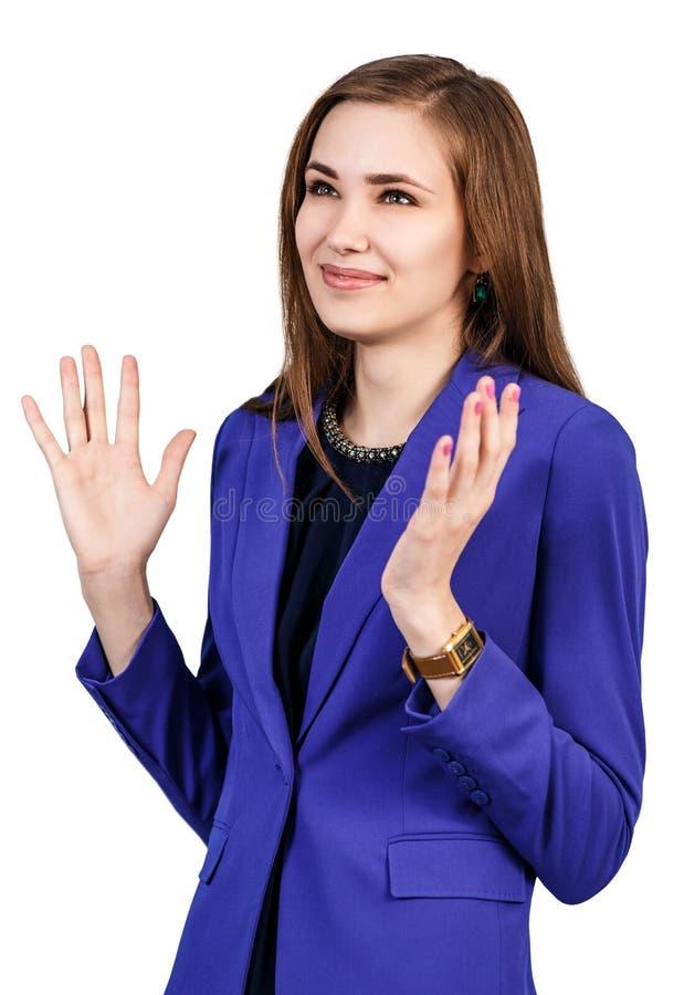 szczęśliwa kobieta uśmiechnięta zdjęcie royalty free