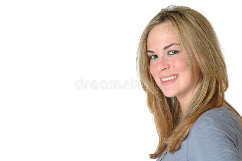 szczęśliwa kobieta wam zdjęcie stock