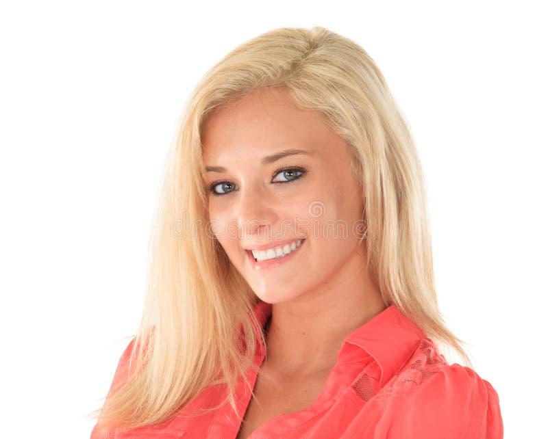 Szczęśliwa kobieta z blondynem fotografia royalty free