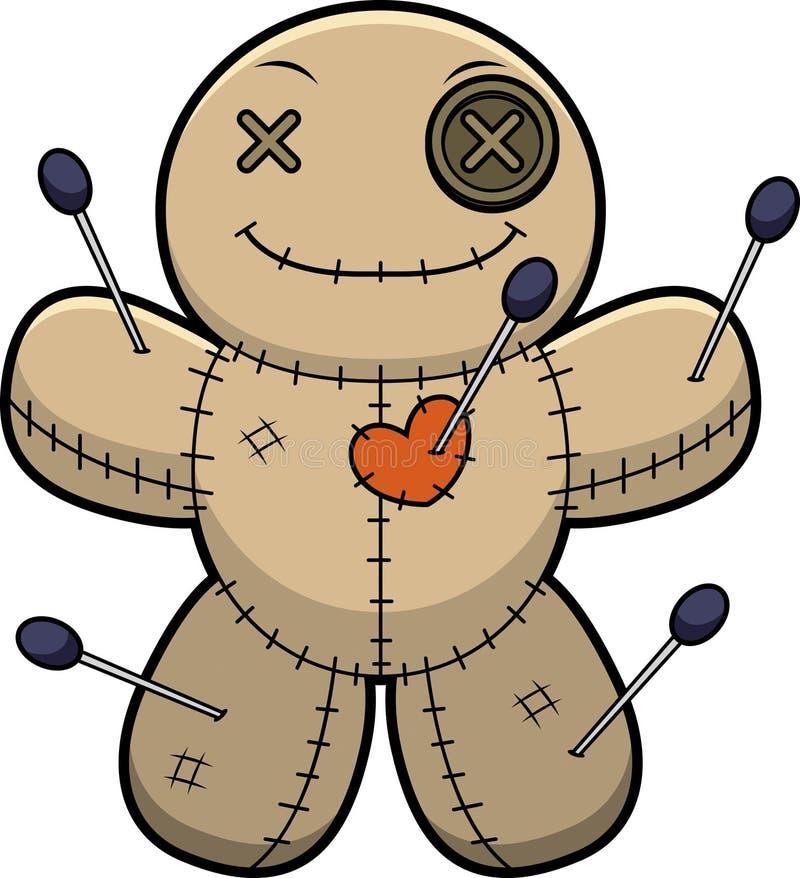 Szczęśliwa kreskówka wudu lala ilustracja wektor