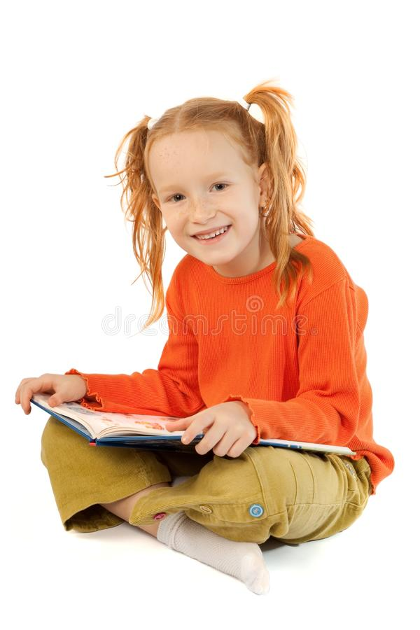 szczęśliwa książkowa dziewczyna obrazy stock