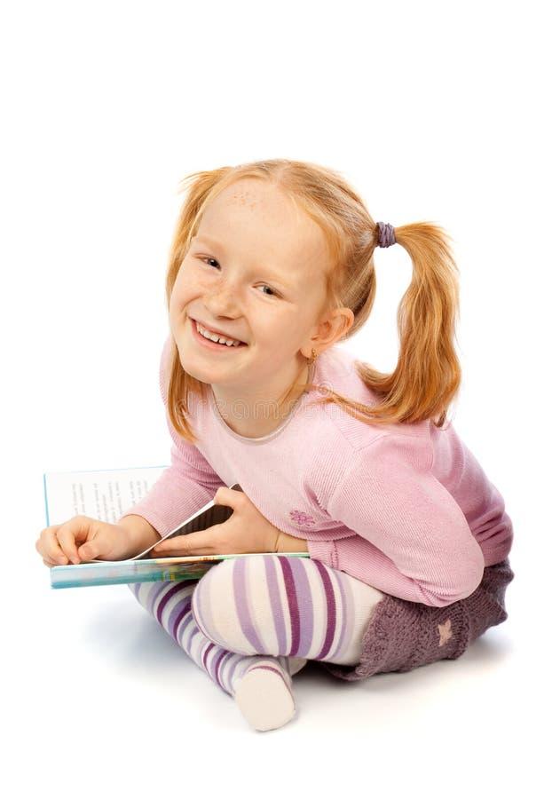 szczęśliwa książkowa dziewczyna zdjęcia stock
