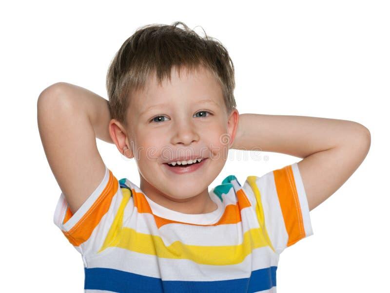Szczęśliwa młoda chłopiec zdjęcia stock