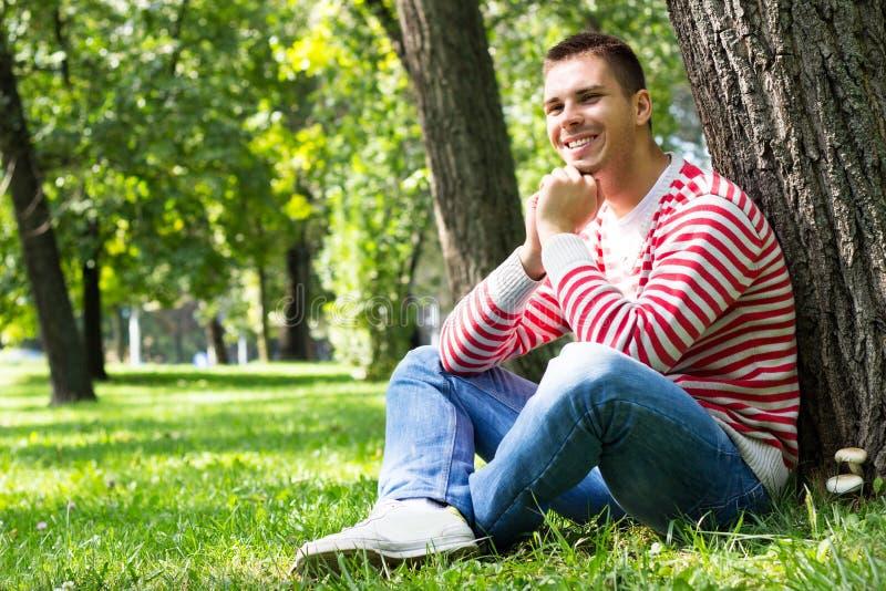 Szczęśliwa młoda samiec fotografia stock