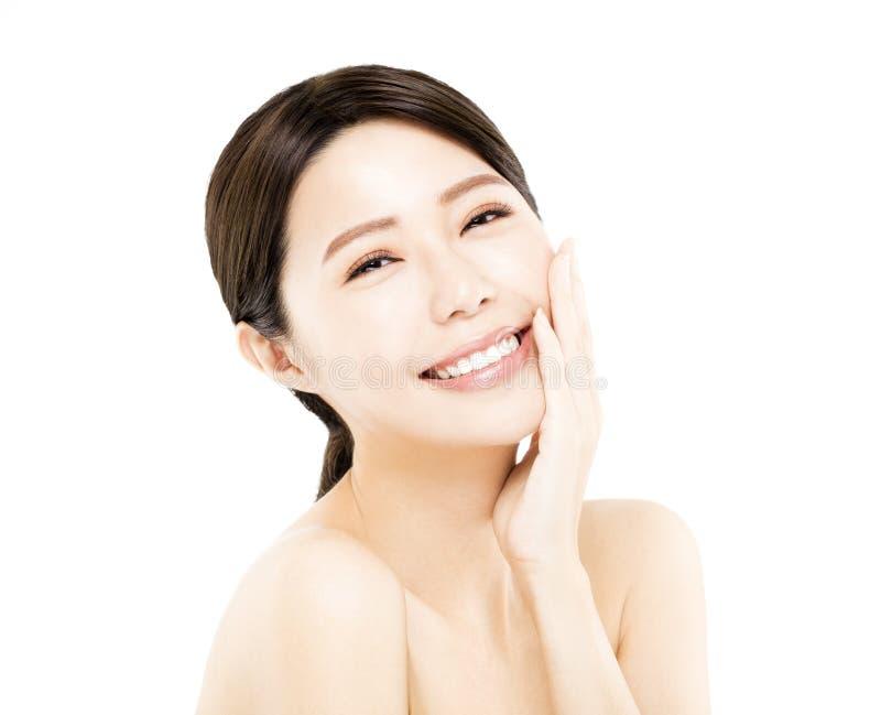 Szczęśliwa młodej kobiety piękna twarz obrazy royalty free