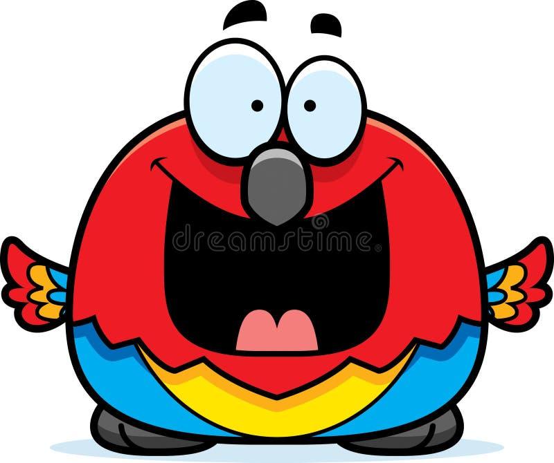 Szczęśliwa Mała papuga royalty ilustracja