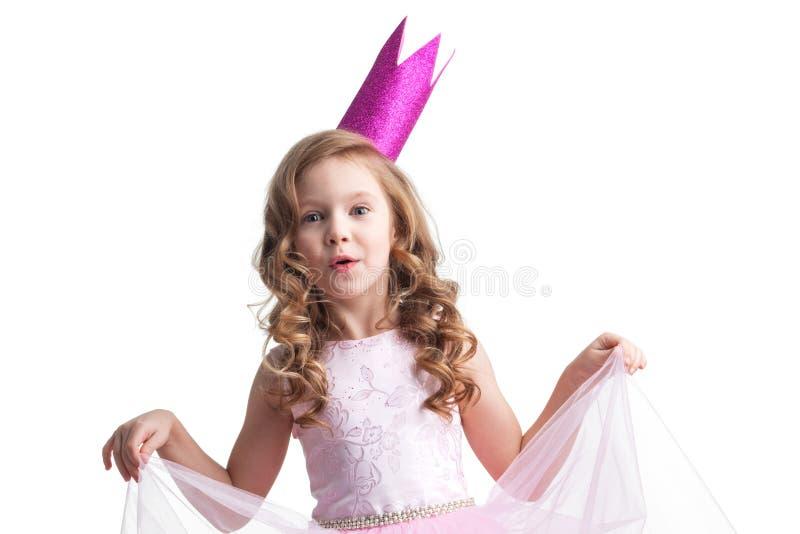 Szczęśliwa mała princess dziewczyna zdjęcie royalty free