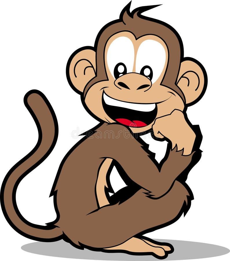 szczęśliwa małpka ilustracja wektor