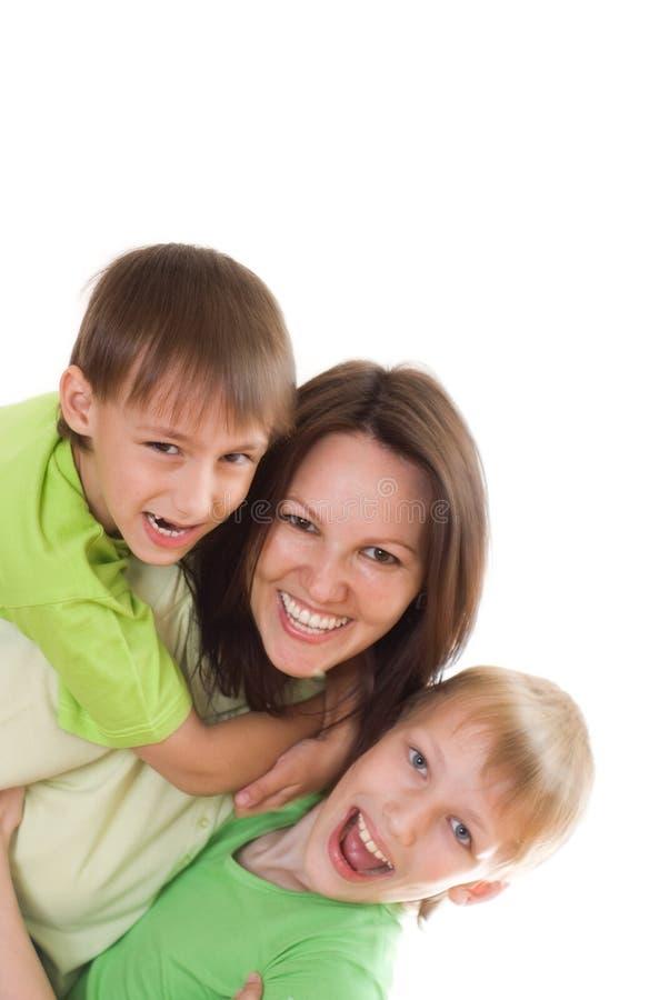 Szczęśliwa mama i dzieci zdjęcia stock