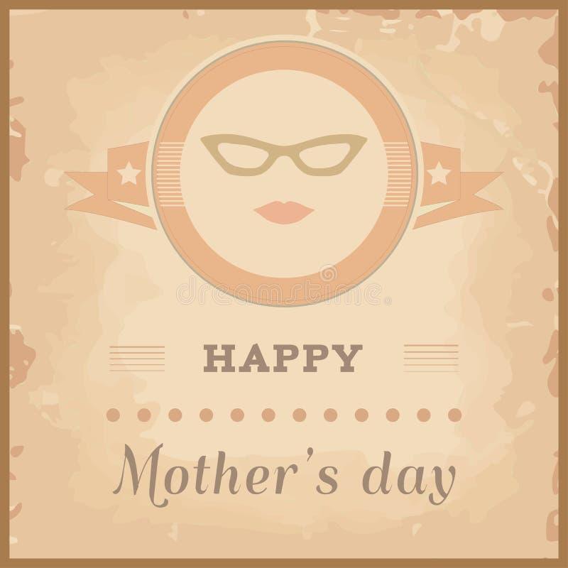 Szczęśliwa matka dnia karta ilustracji