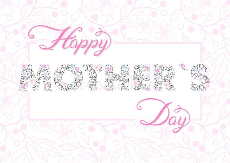 Szczęśliwa matka dnia typografia ilustracji
