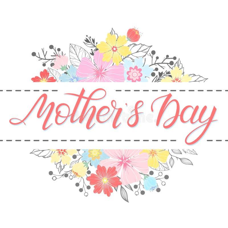 Szczęśliwa matka dnia typografia ilustracja wektor