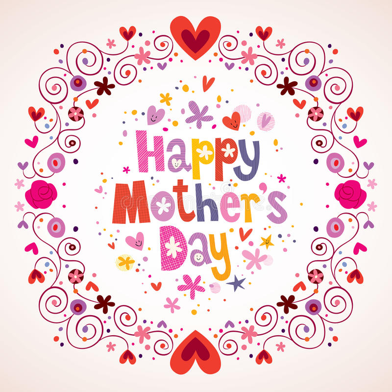 szczęśliwa matka jest dzień royalty ilustracja