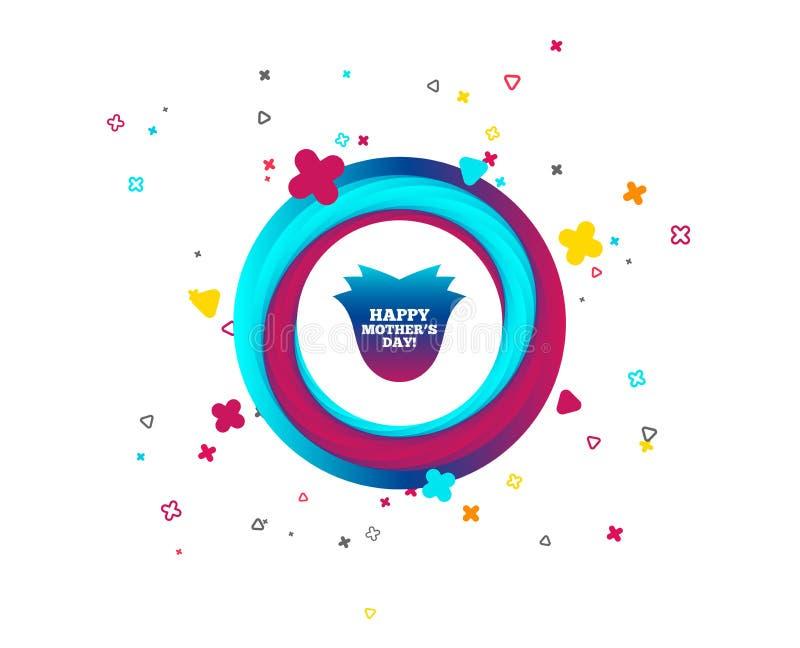 Szczęśliwa matki ` s dnia znaka ikona Mama symbol royalty ilustracja
