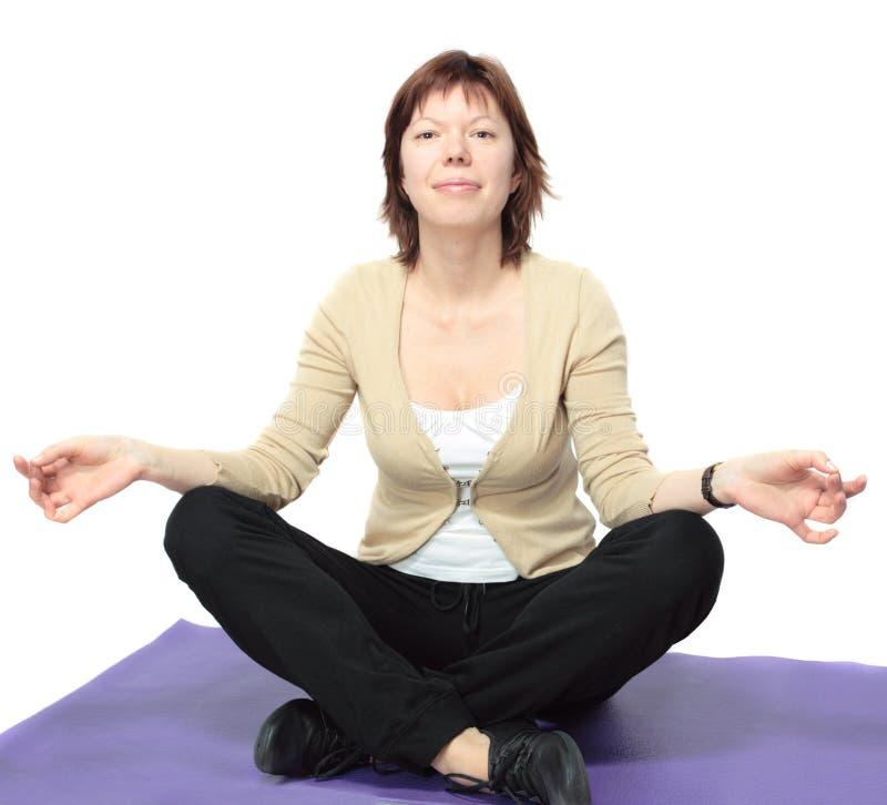 szczęśliwa medytacja zdjęcia royalty free