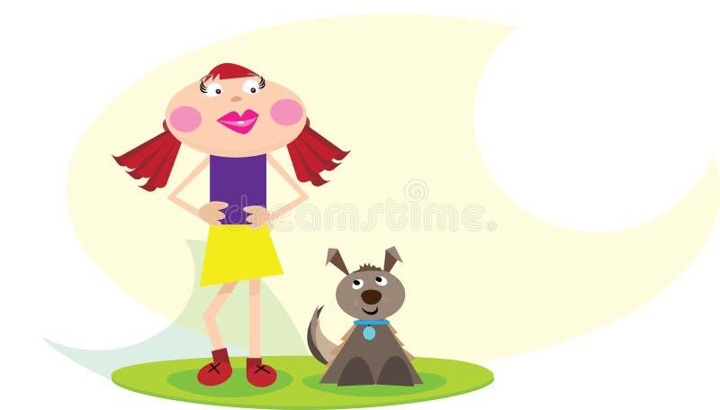 Szczęśliwa nastoletnia dziewczyna royalty ilustracja