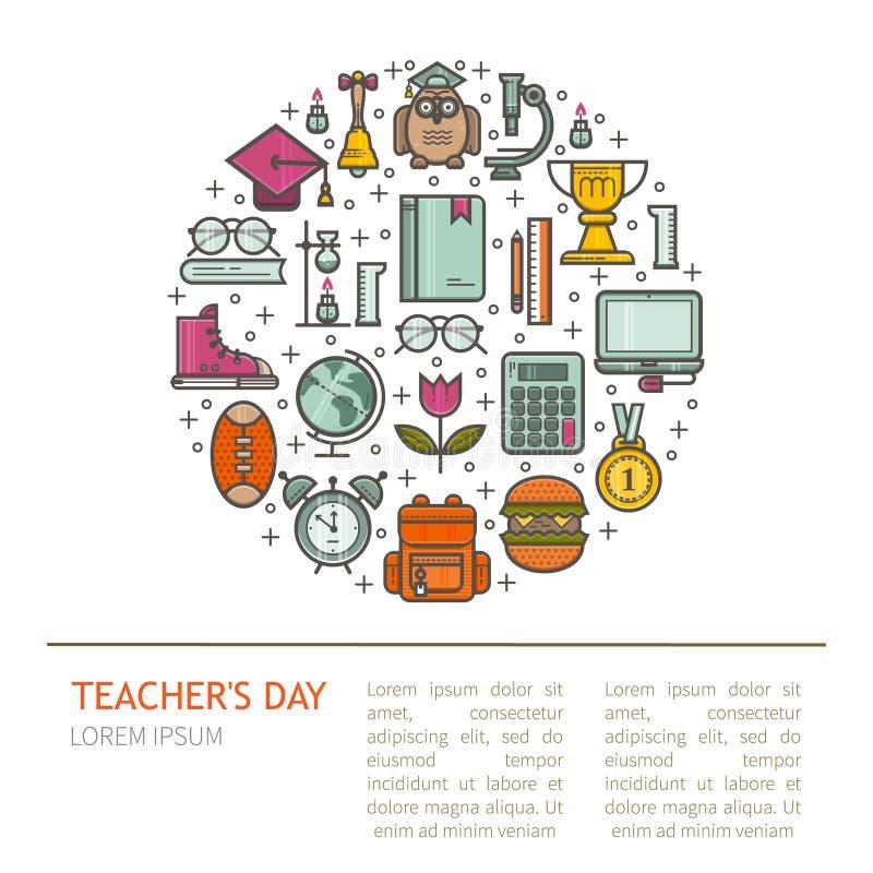 Szczęśliwa nauczyciela s dnia ilustracja zdjęcia stock