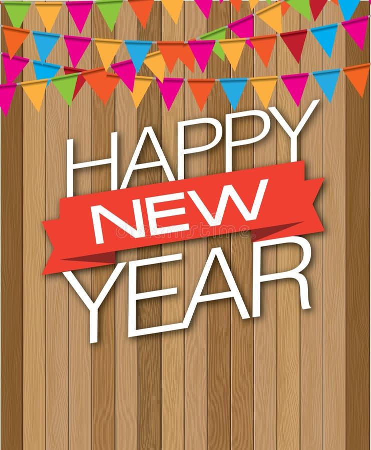 Szczęśliwa nowego roku drewna kropla obrazy royalty free