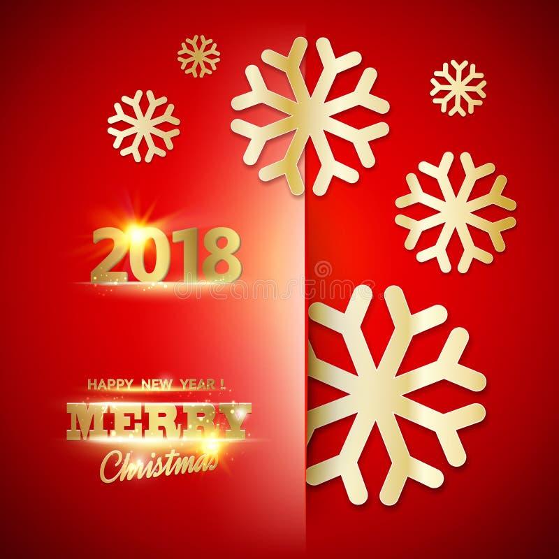 Szczęśliwa nowego roku 2018 karta ilustracji