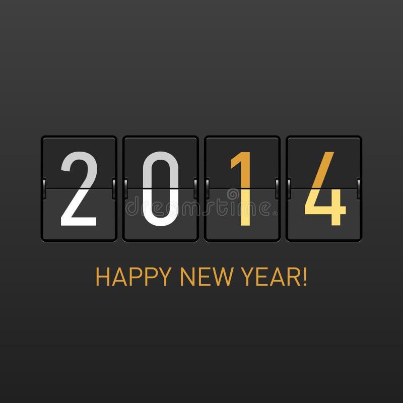 Szczęśliwa nowego roku 2014 karta