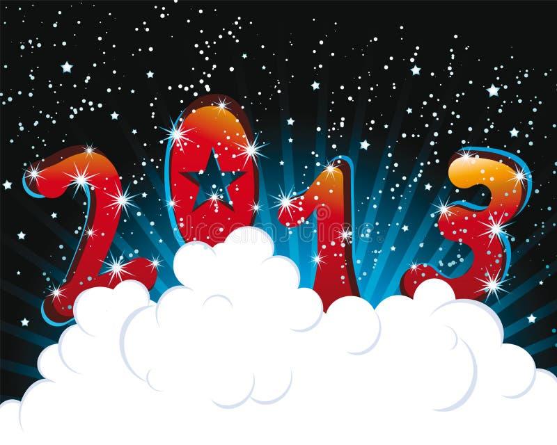 Szczęśliwa nowego roku kartonu 2013 ilustracja royalty ilustracja