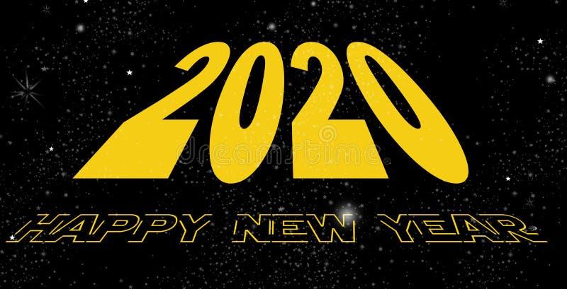 Szczęśliwa nowego roku 2020 przestrzeń ilustracji