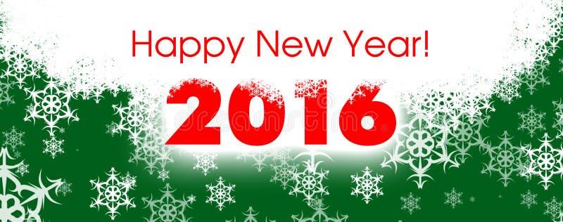 Szczęśliwa nowy rok karta 2016 ilustracji
