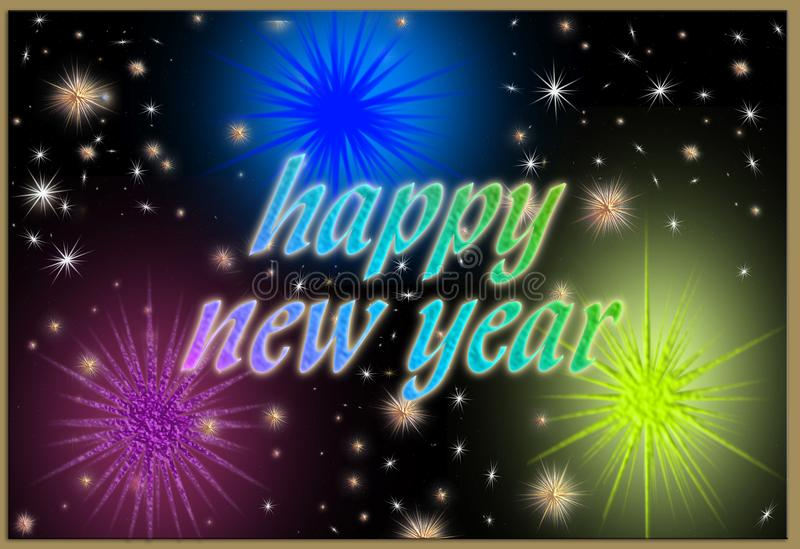 Szczęśliwa nowy rok pocztówka zdjęcia stock