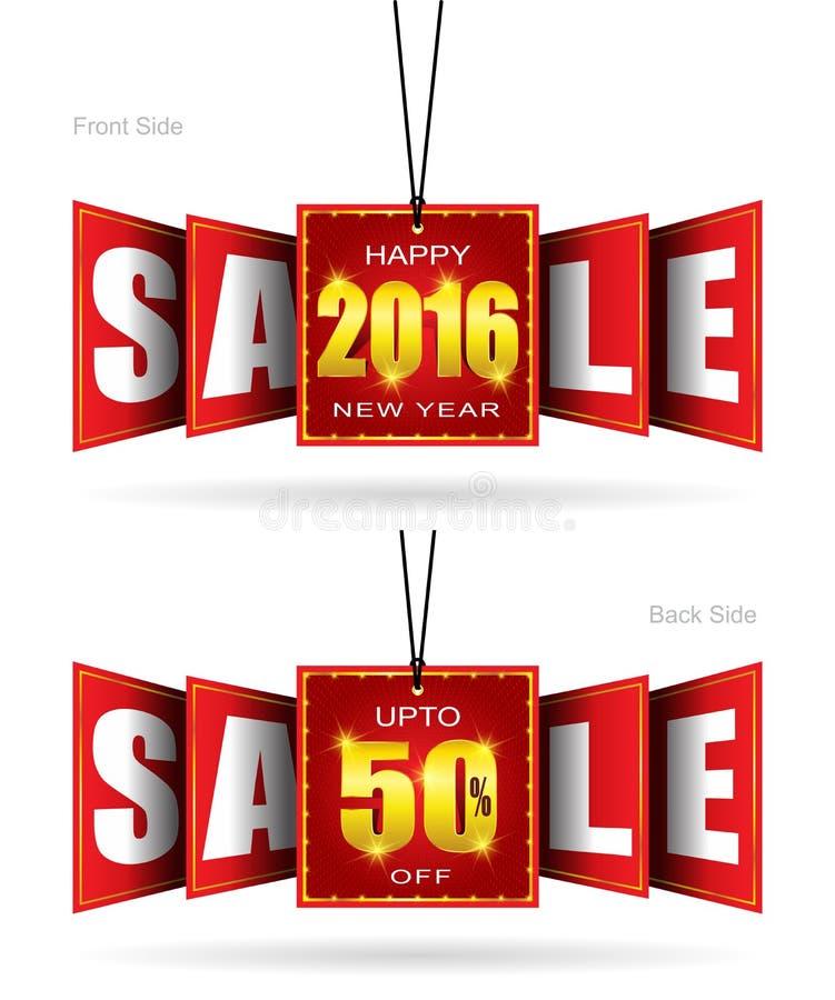 Szczęśliwa nowy rok sprzedaż ilustracji