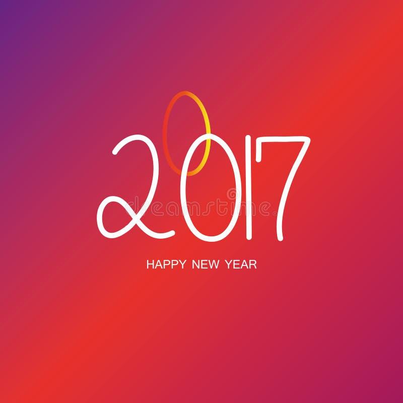 Szczęśliwa nowy rok 2017 tapeta ilustracja wektor