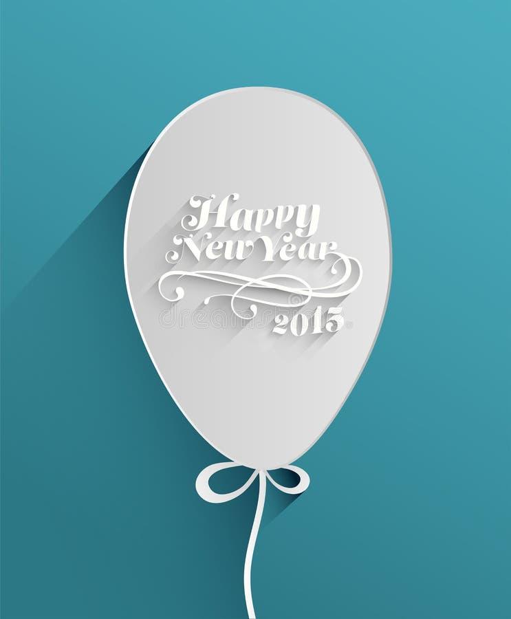 Szczęśliwa nowy rok wiadomość w balonie ilustracji