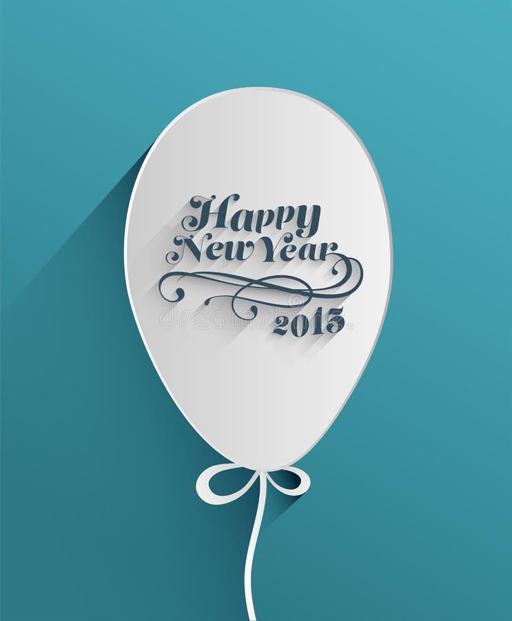Szczęśliwa nowy rok wiadomość w balonie ilustracja wektor