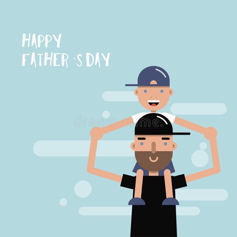 Szczęśliwa ojca dnia karta również zwrócić corel ilustracji wektora royalty ilustracja