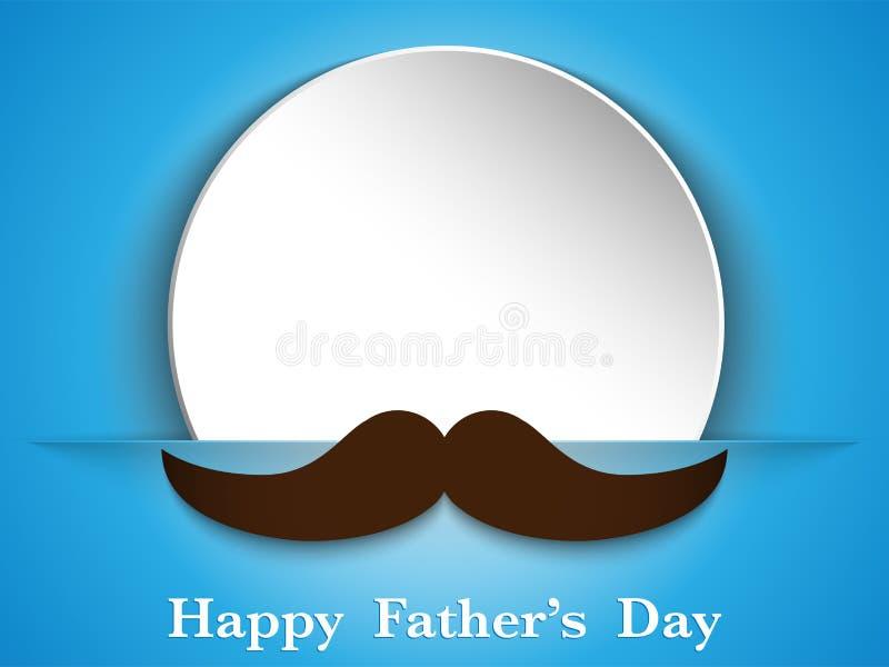 Szczęśliwa ojca dnia wąsy miłość royalty ilustracja