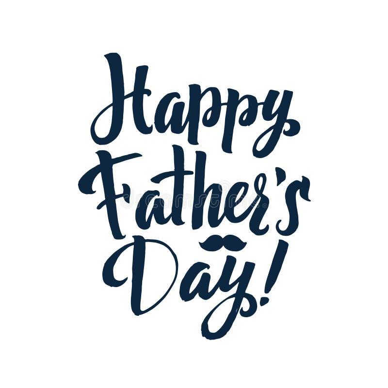 Szczęśliwa ojca ` s dnia kaligrafii Gretingu karta Atrament inskrypcja ilustracji