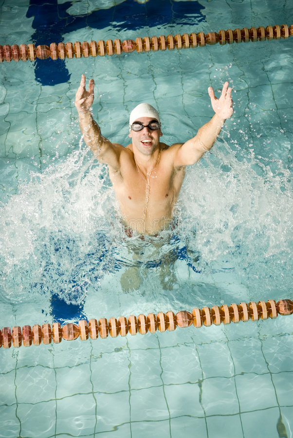 szczęśliwa pływaczka obrazy stock