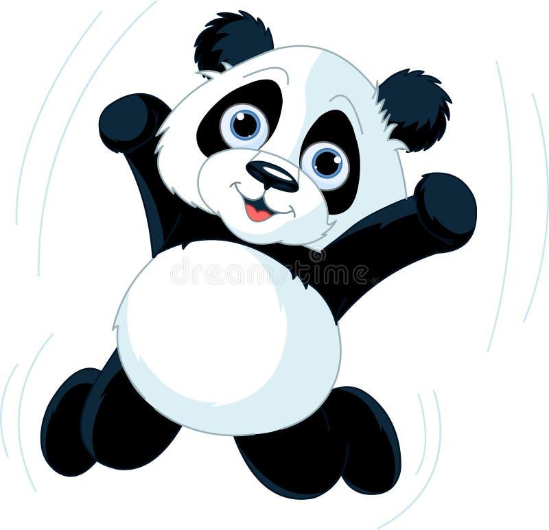 szczęśliwa panda royalty ilustracja