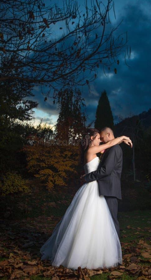 Szczęśliwa para małżeńska fotografia stock