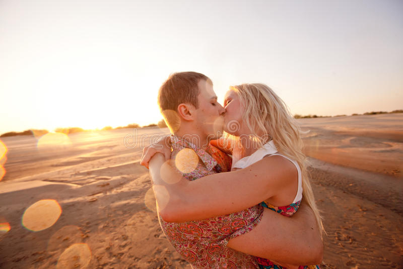 Para na plaży fotografia stock