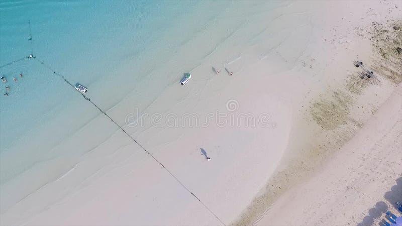 Szczęśliwa para na plaży wpólnie Potomstwa dobierają się cieszyć się each inny na plaży Kobieta i fotografia stock
