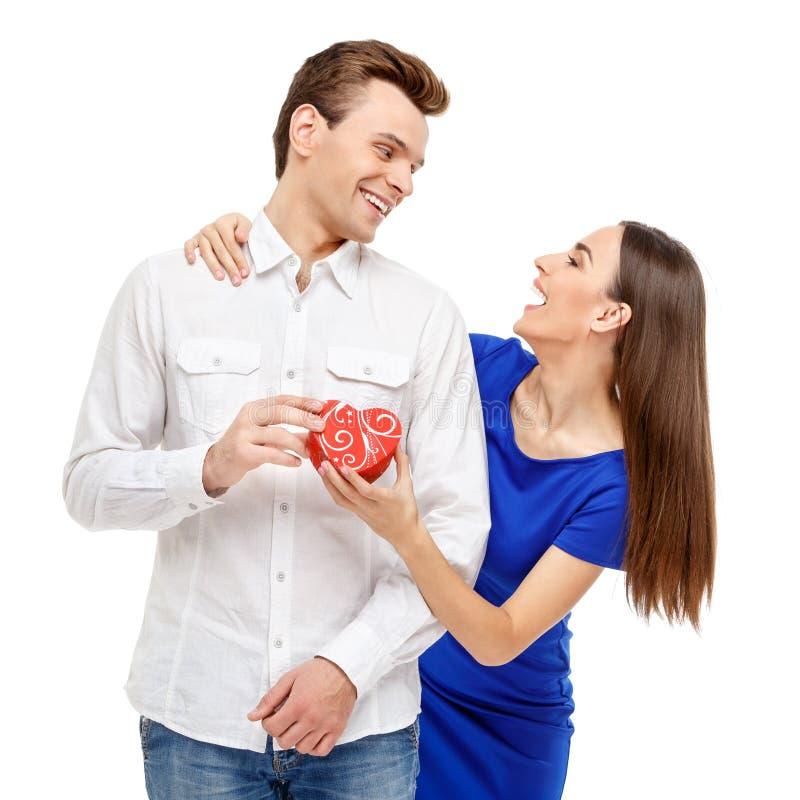 Szczęśliwa para na walentynka dniu obraz royalty free