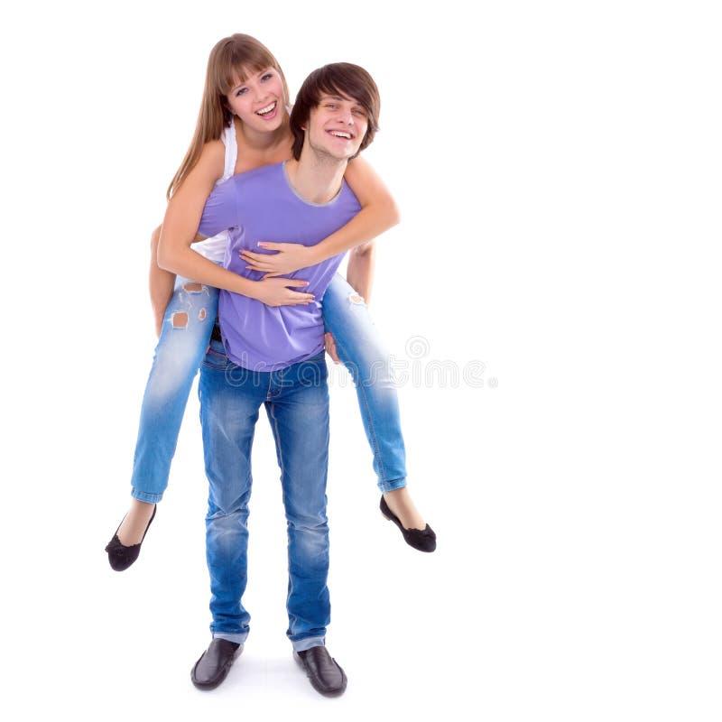 Szczęśliwa para w miłości obraz stock