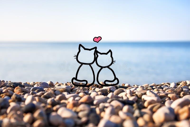 Szczęśliwa para w miłości zdjęcie stock