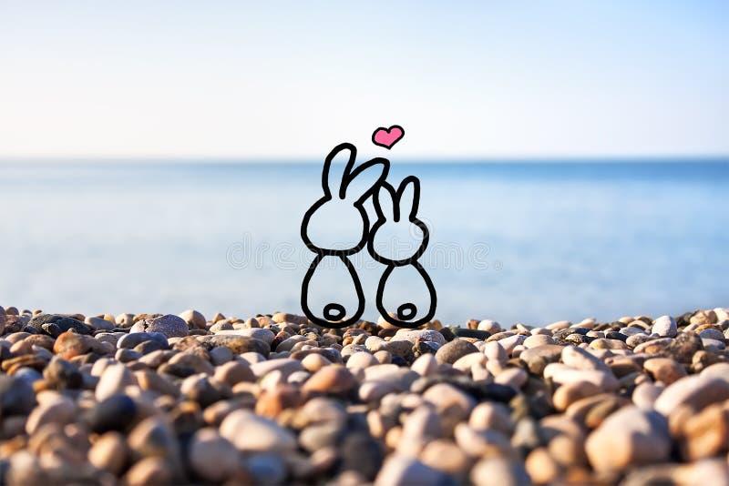 Szczęśliwa para w miłości obrazy stock