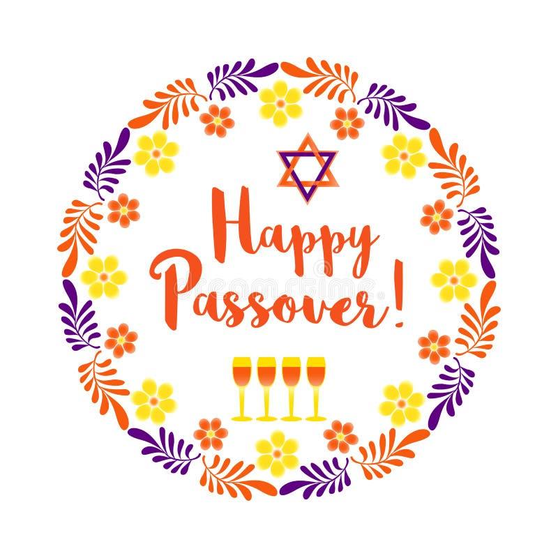 Szczęśliwa Passover karta ilustracji