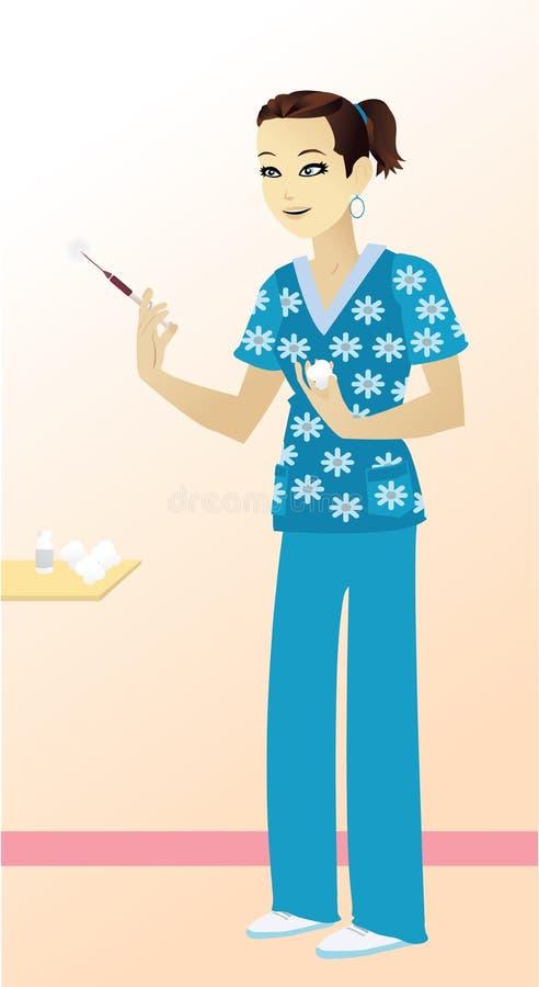 szczęśliwa pielęgniarka ilustracja wektor