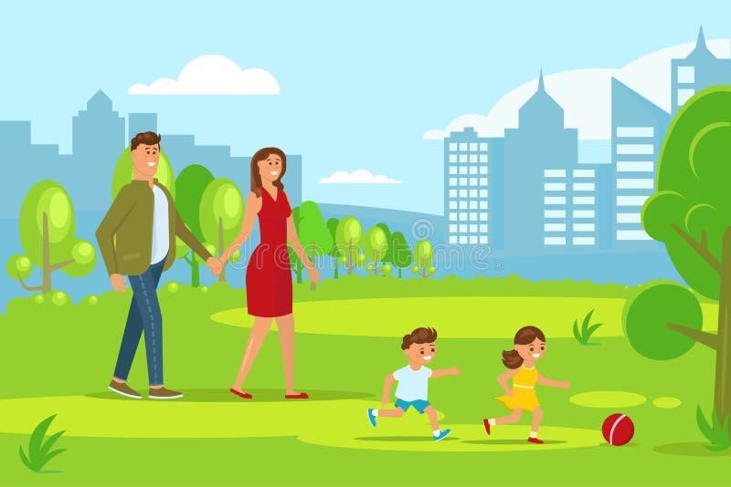 szczęśliwa rodzina, ilustracja wektor