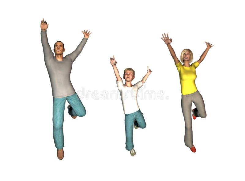 szczęśliwa rodzina royalty ilustracja